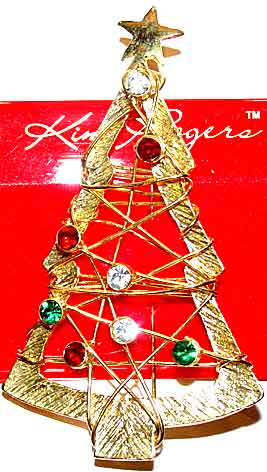 Unsigned Contemporary Christmas Tree Pins